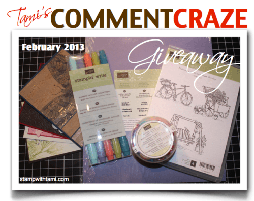 Win Free Stampin' Up! stamps give-away
