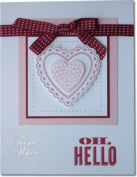 CARD: Hearts a Flutter Valentine Part III | Stampin Up