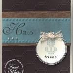 """CARD: Hoop La La """"faux"""" Needlepoint"""