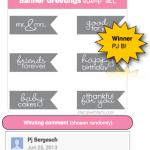 WINNER: Banner Greetings Stamp Set Drawing