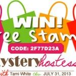 SPECIAL: Mystery Hostess Code 2F77D23A  thru July 31