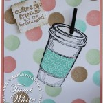 CARD: Ice Coffe to-go-cup with a straw