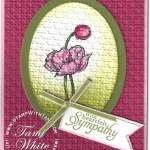 CARD: SImply Sketched Textured Flower