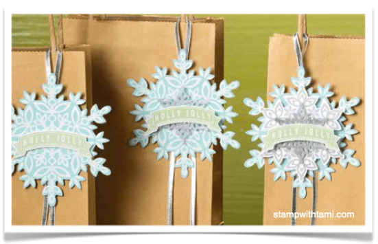 festive flurry gift tags stampinup
