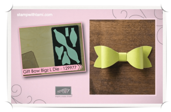 gift bow die-stampin up