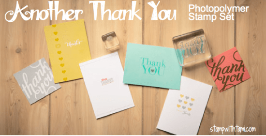 stampin up - another thank you stamp set