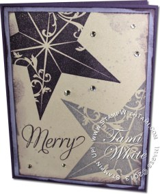 christmas star card-stampin up