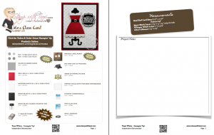 mrs claus christmas card sheet
