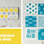 NEW: Eye-Catching ikat Photopolymer clear stamp set