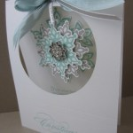 CARD: Festive Flurry hanging Snowflake Card