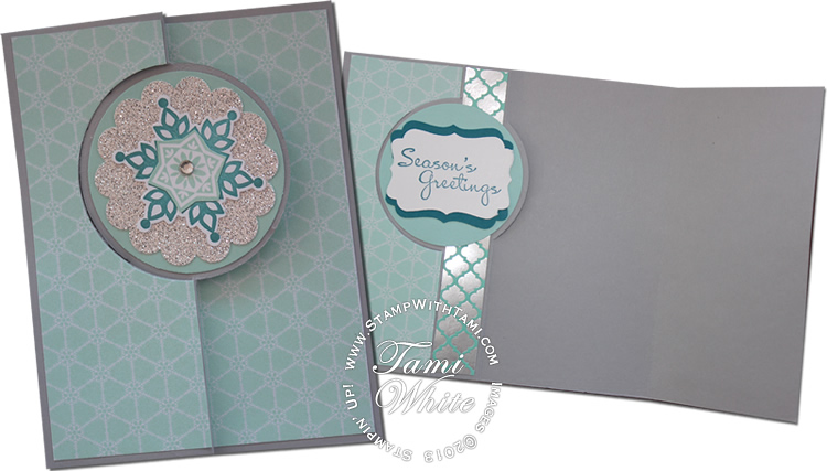 card  festive flurry extended flip card part iv