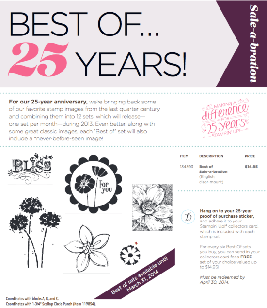 stampin Up best of sale a bration