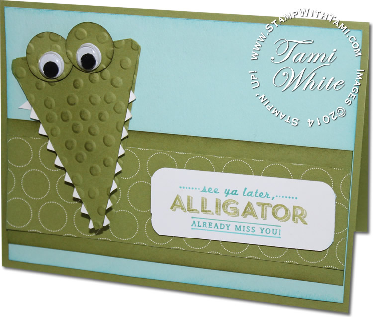 VIDEO Stinkin Cute See Ya Later Alligator Card Stampin