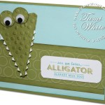 VIDEO: Stinkin Cute See Ya Later Alligator Card