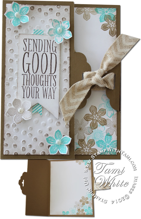 VIDEO Cool Scallop Tag Topper Fold Technique Stampin Up