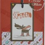 CARD: Cool Kid Super Hero Dog