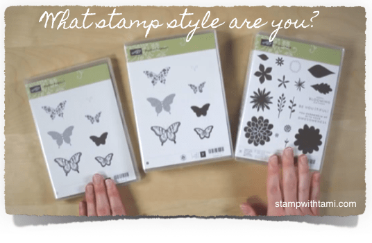 stampin up stamp set styles