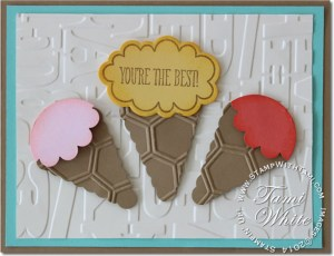 just sayin-stampin up