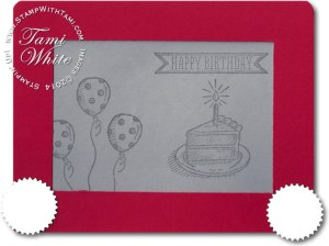 Stampin Up Etch a Sketch card