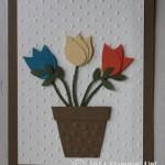 CARD: Bird Punch Flower Pot