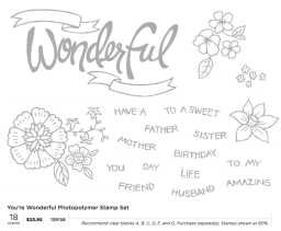 youre wonderful stamp set