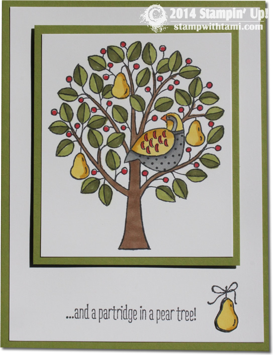 CARD And A Partridge In Pear Tree