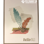 """CARD: Four Feathers """"Hello Fall"""""""