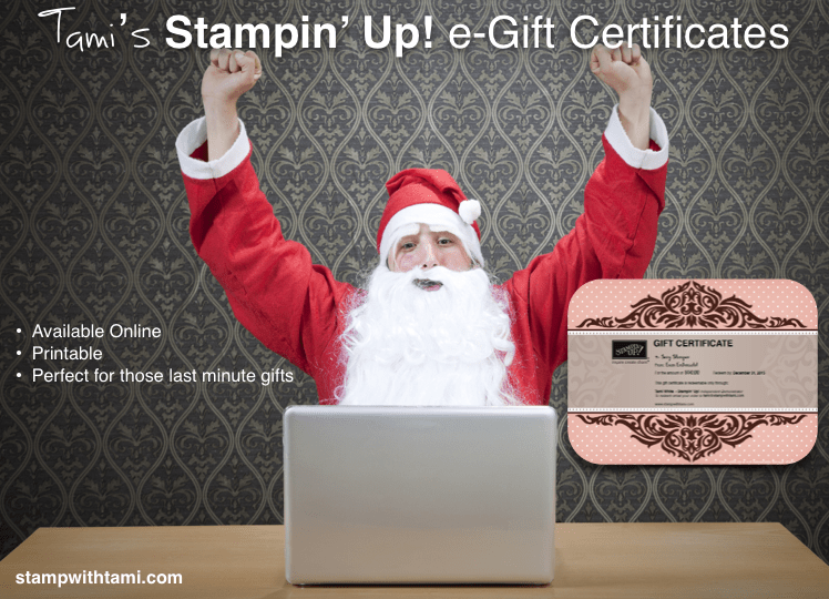 Stampin Up Gift Certificates