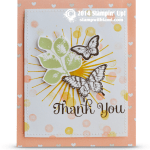 """CARD: Whimsical Butterfly """"Thank You"""" Card"""