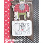 "SNEAK PEEK: Timber ""Wood You Be Mine"" Valentine Card"