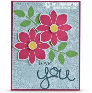 stampin up petal potpourri card