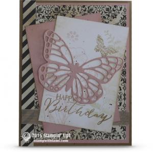 beautiful butterflies stampin up card