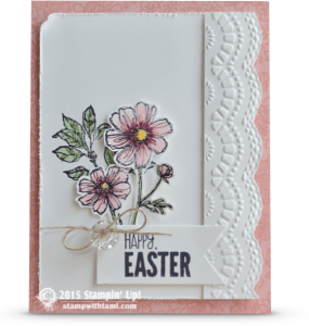 stampin up bloom with hope easter card