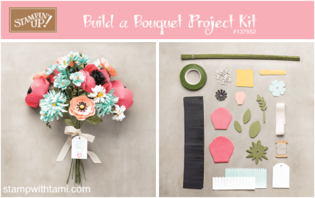 build a bouquet flower kit stampin up