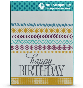 happy birthday everyone-stampin up