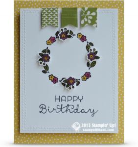 stampin up cottage greetings card stamp set