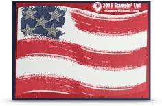 stampin up work of art usa flag card