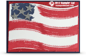 stampin up work of art usa flag card