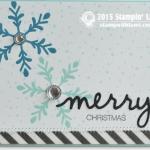 CARD: Holly Jolly Part I – Merry Snowflakes card