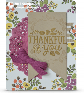 stampin up thankful forest friends stamp set card