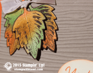 stampin up vintage leaves 1