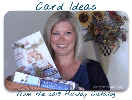 stampin up 2015 holiday catalog card ideas video