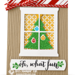 CARD: Oh What Fun Window Tree