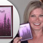 VIDEO: Silent Night Silver Glitter Splatter Card
