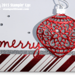 CARD: Delicate Ornament Christmas WOW card