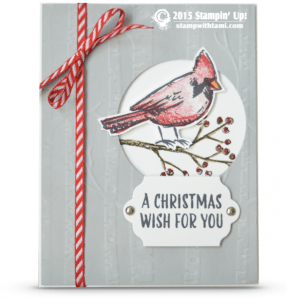 stampin up joyful season cardinal card