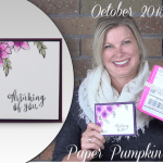 "VIDEO: September Paper Pumpkin Alternate ""Beautiful Bouquet"" Card & Giveaway"
