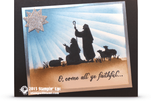oh come all ye faithful-stmapin up christmas card