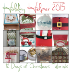 HOLIDAY HELPER 2015 – 12 Days of Christmas Project Tutorials Free