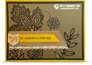 stampin up lighthearted leaves fall grateful card